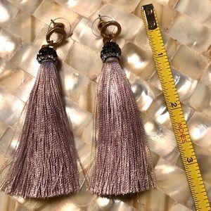 Jewelry - Tassel earrings with Glitter tassel cap